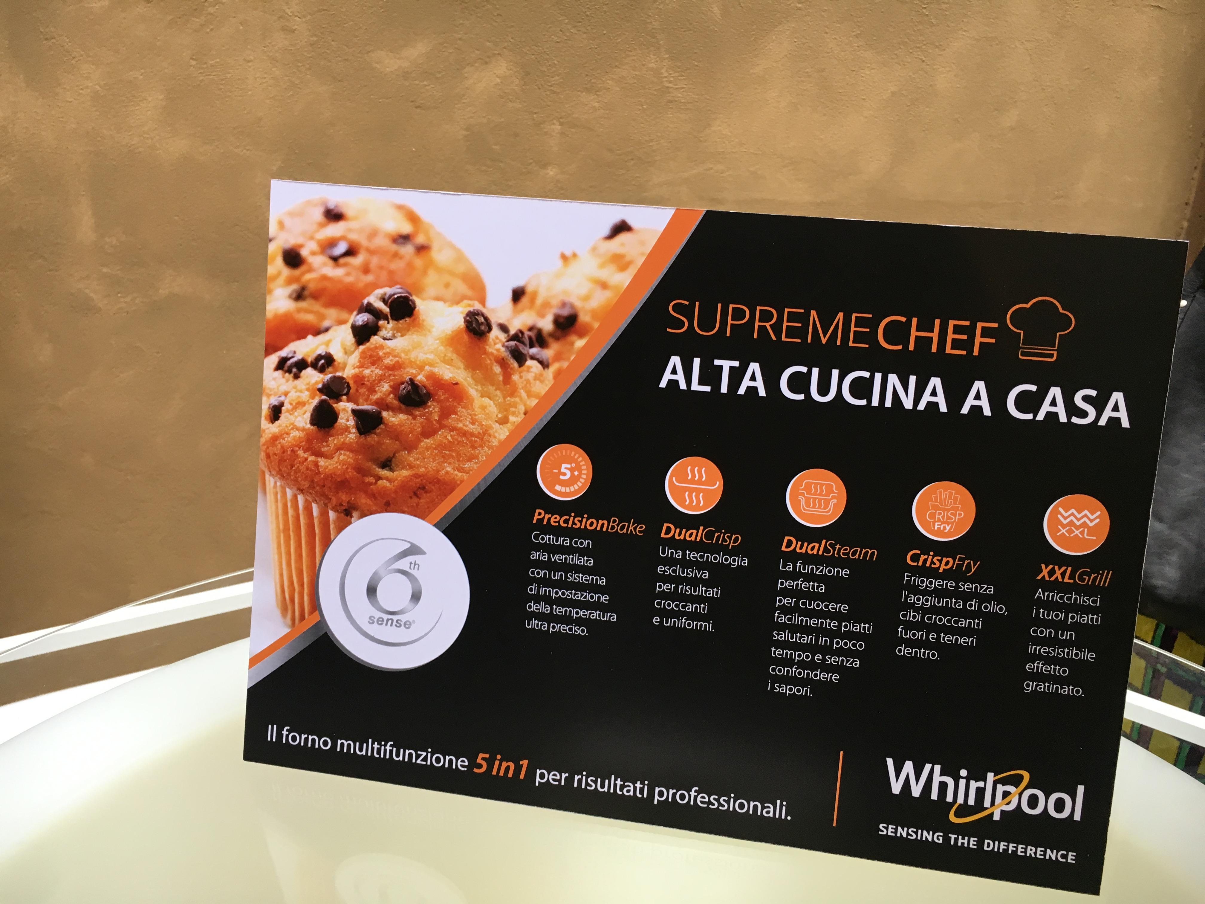 Forno a microonde whirpool supreme chef cucina svago - Forno sesto senso whirlpool ...